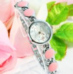Pink Color Stylish Rabbit Bracelet Wrist Watch