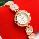 Women Decorative Rhinestone Bracelet Wrist Watch