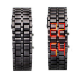 Iron Samurai - Japanese Style Inspired Red LED Watches LW008BR