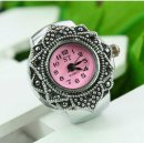 New Beauty Vintage Floral Elastic Finger Ring Watch