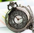 Classical retro net pattern quartz pocket watch