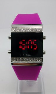 Red LED Watches with Silicone Band
