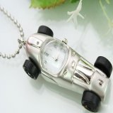 New Fashionable Car Quartz Clock Pendant Watch Necklace