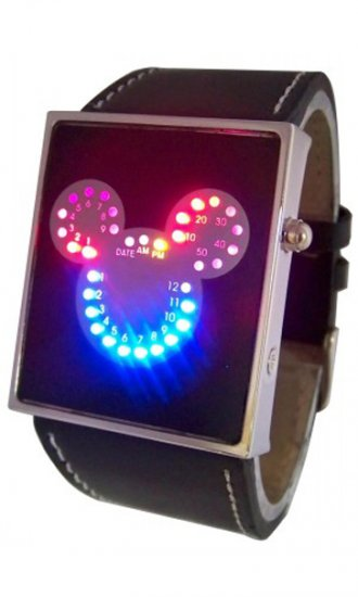Mickey LED watches for Kids - Click Image to Close