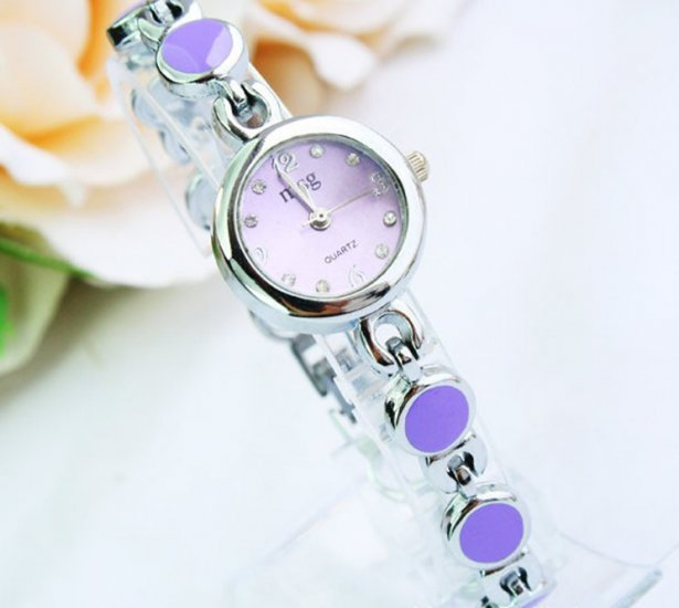 Exquisite Round Shape Stylish Bracelet Wrist Watch - Click Image to Close