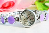 Charming Purple Rabbit Design Bracelet Wrist Watch