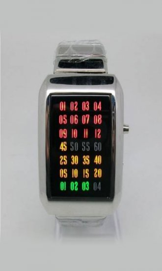 Multi-colored LED Wrist Watches - Click Image to Close
