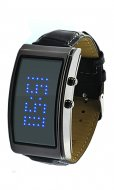 Rectangle Fashion LED watch for women blue light