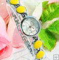 Yellow Color Stylish Rabbit Bracelet Wrist Watch