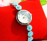 Fashionable Blue Women Bracelet Wrist Watch