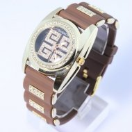 New fashion watch quartz japan style unisex brown-wholesale