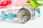 Blue Color Stylish Rabbit Bracelet Wrist Watch