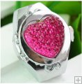 Fashion Heart Love Rhinestone Finger Elastic Ring Watch