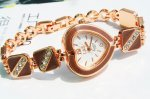 Beautiful Decorative Heart Rhinestone Bracelet Wrist Watch