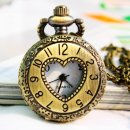 Antique Brown Luxury Numeral pocket Watch PW001