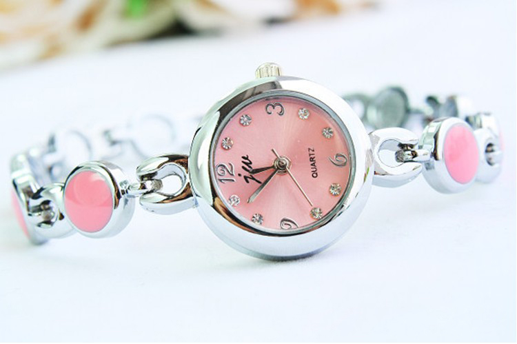 SEO_COMMON_KEYWORDS New Design Pink Color Bracelet Wrist Watch