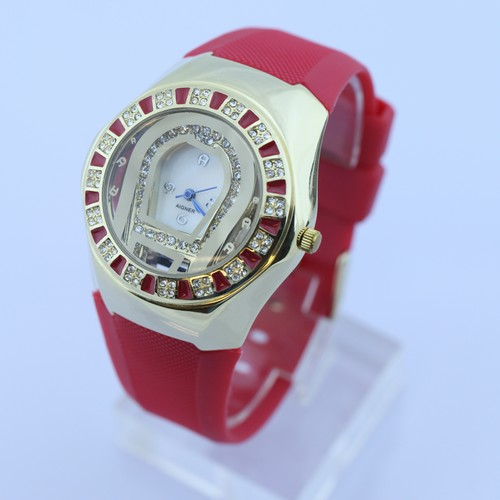SEO_COMMON_KEYWORDS Wholesale - women's watch  Quartz Rubber belt  red