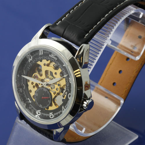 SEO_COMMON_KEYWORDS Fashionable Leather Band Automatic Watch for Men