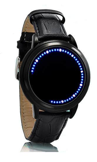 Japanese Style Inspired Blue LED Touchscreen Watch - Click Image to Close