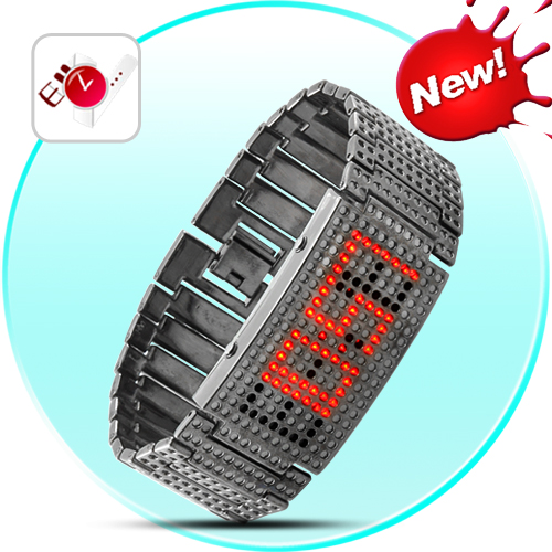 SEO_COMMON_KEYWORDS Ignis - Lava Red Round Holes LED Watch