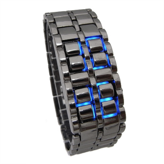 Ice Samurai Watches with blue LEDs LW008BB - Click Image to Close