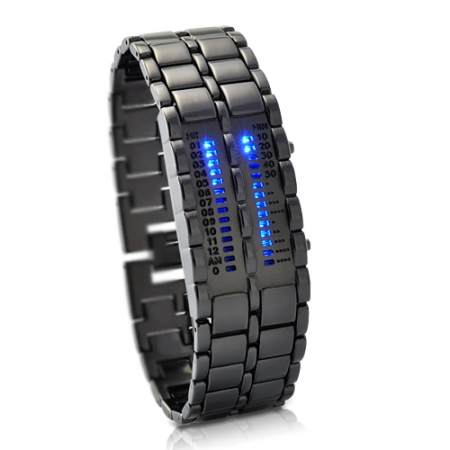 SEO_COMMON_KEYWORDS Elite Clock  Army Style Blue Cool LED Watch  LW030BB